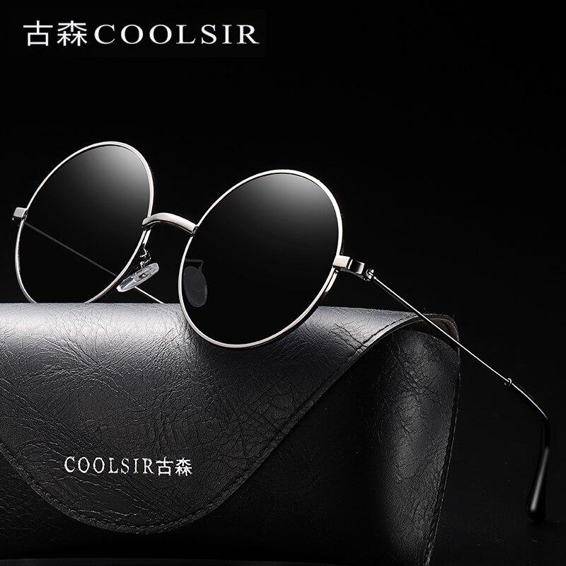 83b9761215 Vintage Round Sunglasses Men Polarized Women Clot Goggles Retro Sun ...