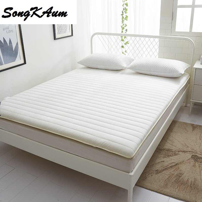 SongKAum 6cm Thickening Cotton Cover Polyester Fiber Filling Foldable 0.9/1.0 Meters Mattress Double 1.5/1.8Meters Bed Pad