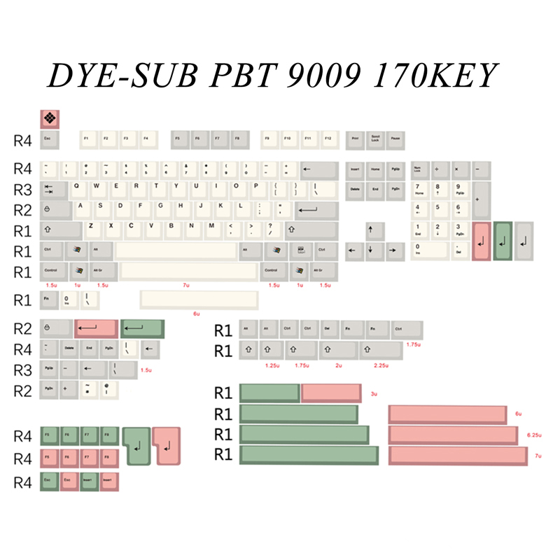Dye sub keycaps mechanical keyboard 170 keycap thick PBT cherry height 104 game keyboard keys dye subbed FC980 minila keyboard цена