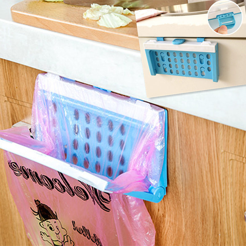 foldable plastic garbage bag rack portable hanging trash rubbish bag storage holder kitchen. Black Bedroom Furniture Sets. Home Design Ideas