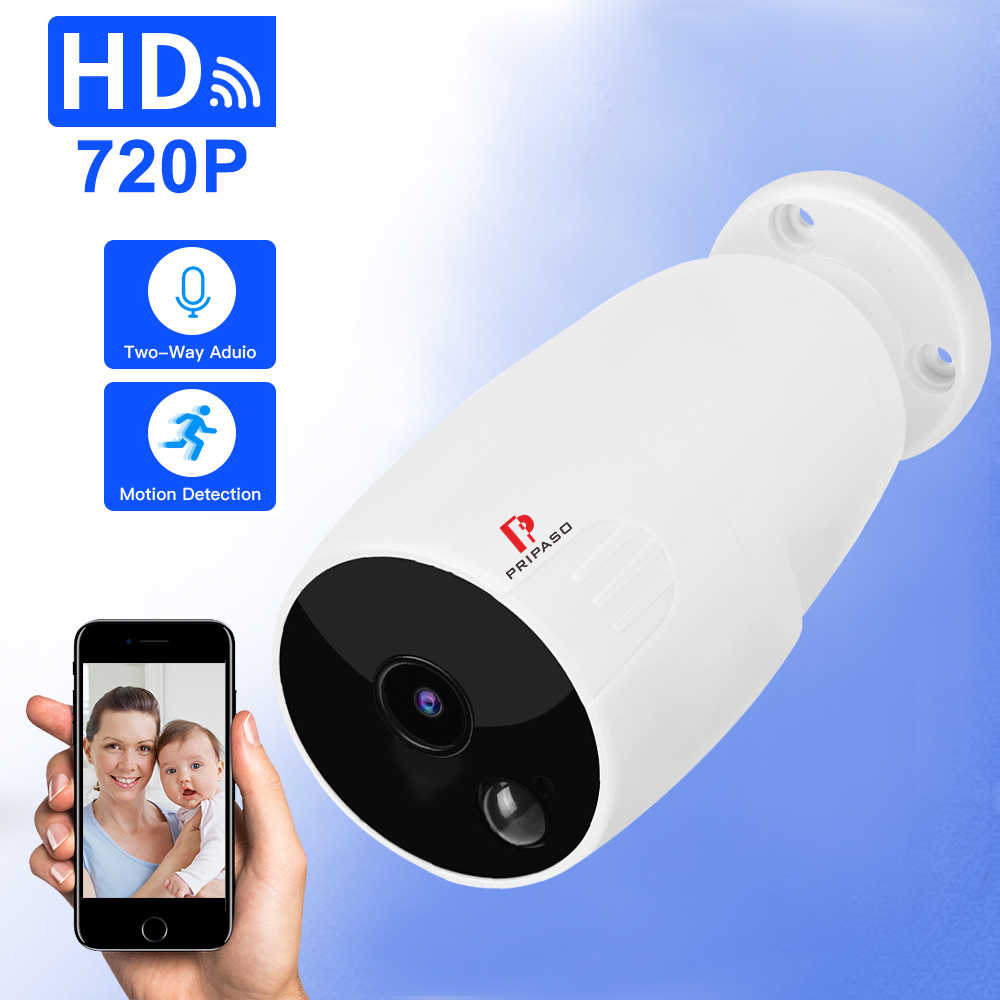 HD Wifi 720P HD IP Camera Outdoor Wireless Rechargeable Battery Security Camera Surveillance CCTV PIR Motion Detection