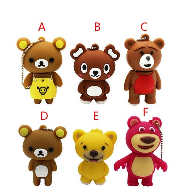 Best Gift lovely mini bear pendrive Usb flash drivdriveck USB Flash Drives