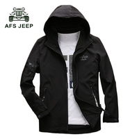 AFS JEEP 2017 New Arrival Spring Men S Jackets Solid Fashion Coats Male Casual Slim Fit