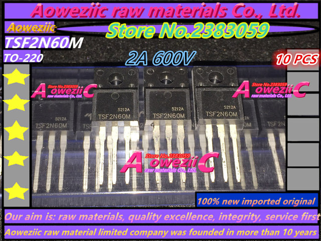 Aoweziic 100% nuovo originale importato TSF2N60M 2N60 2A 600V TSF5N60M 5N60 4.5A 600V TSF8N60M 8N60 8A 600V TO 220F transistor MOS