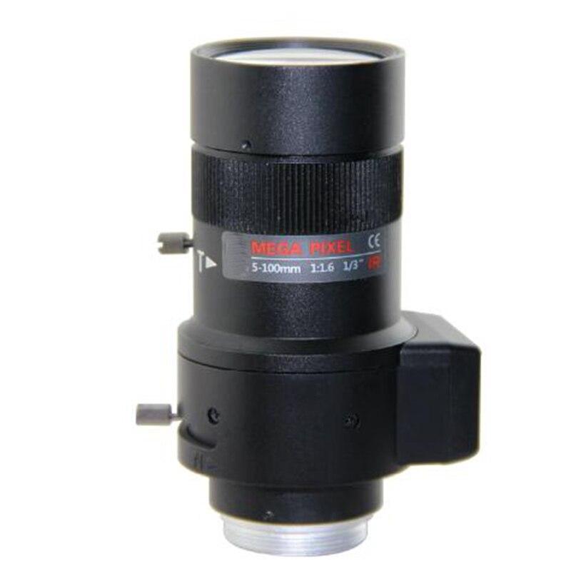 1.3 mégapixels HD objectif CCTV 5-100mm F1.6 1/3