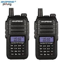 2 Unids UV-B9 Baofeng Walkie Talkie 10 km de largo alcance de Alta Potencia 8 W 4800 mAh Batería Dual Band 136-174 Mhz 400-520 Mhz de Radio de 2 Vías