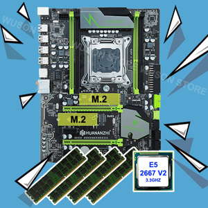 On sale brand motherboard with dual M.2 slot HUANANZHI X79 Pro motherboard bundle CPU Intel Xeon E5 2667 V2 RAM 32G(4*8G) RECC