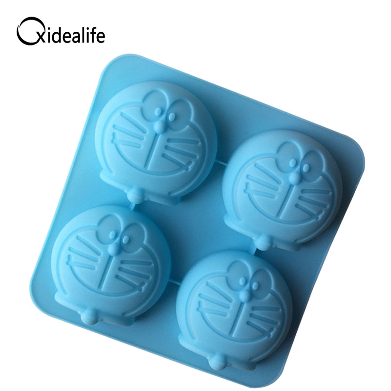 Doraemon Silicone Cake Mold Mousse Stencils Fondant Silicone Molds For Cake Decorating Tool Kitchen Gadgets Baking Tools Mould