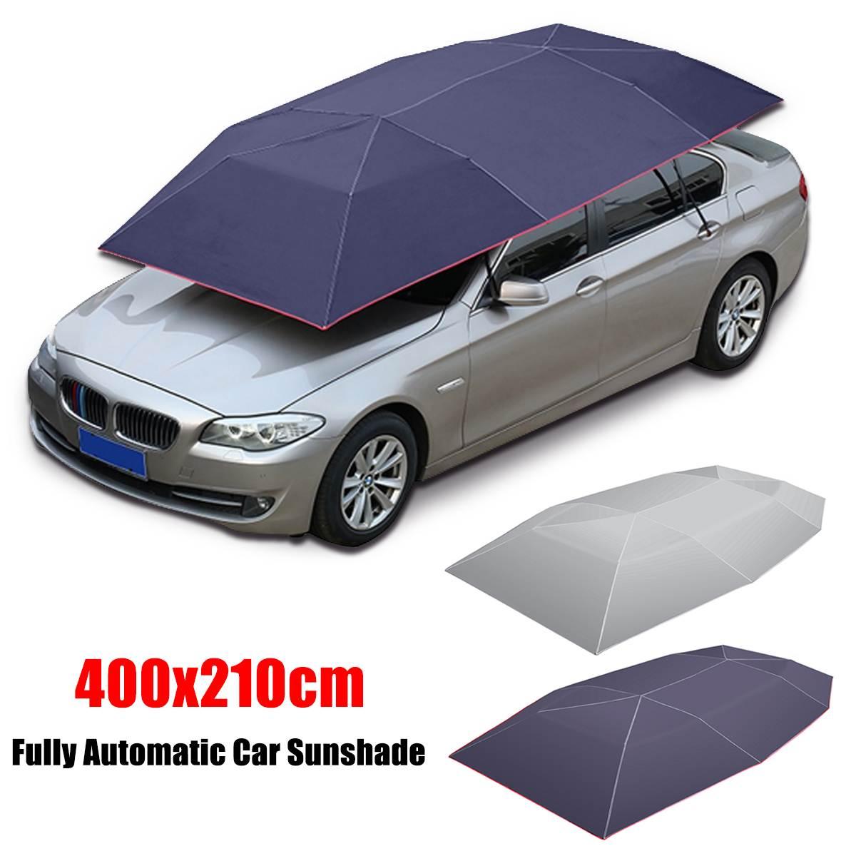 400x210 cm automatique voiture parapluie parasol tente couverture de toit Anti-UV Protection chaude extérieur protecteur soleil ombre été