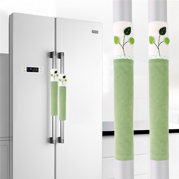 1 Pair Cotton Door Handle Covers Refrigerator Doorknob Cover Practical Double-Door Fridge Gloves Protector Home Kitchen Tools