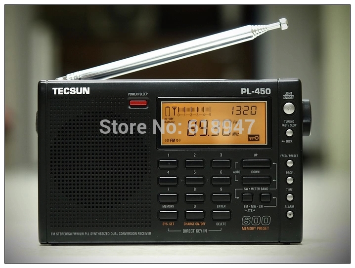 Free Shipping Tecsun pl-450 FM radio Stereo LW MV SW-SSB AIR PLL SYNTHESIZED PL450 secondary variable frequency radio free shipping tecsun pl 450 fm radio stereo lw mv sw ssb air pll synthesized pl450 secondary variable frequency radio