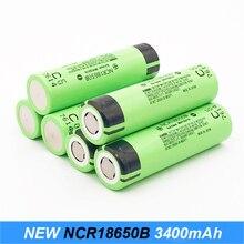Turmera original 18650 baterias bateria 3400 mah ncr18650b com tiras soldadas para chaves de fenda elétrica cigarro e luzes