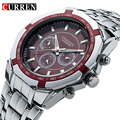 Luxury Men's Black Full Steel Casual Sport Clock Watch Men Quartz Male Silver Military Men Wristwatch Rolojes hombre New 2017