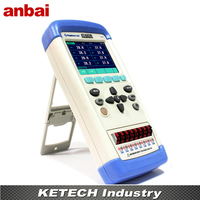 Portable Multi channel Thermometer Thermocouple Temperature Meter Tester AT4208