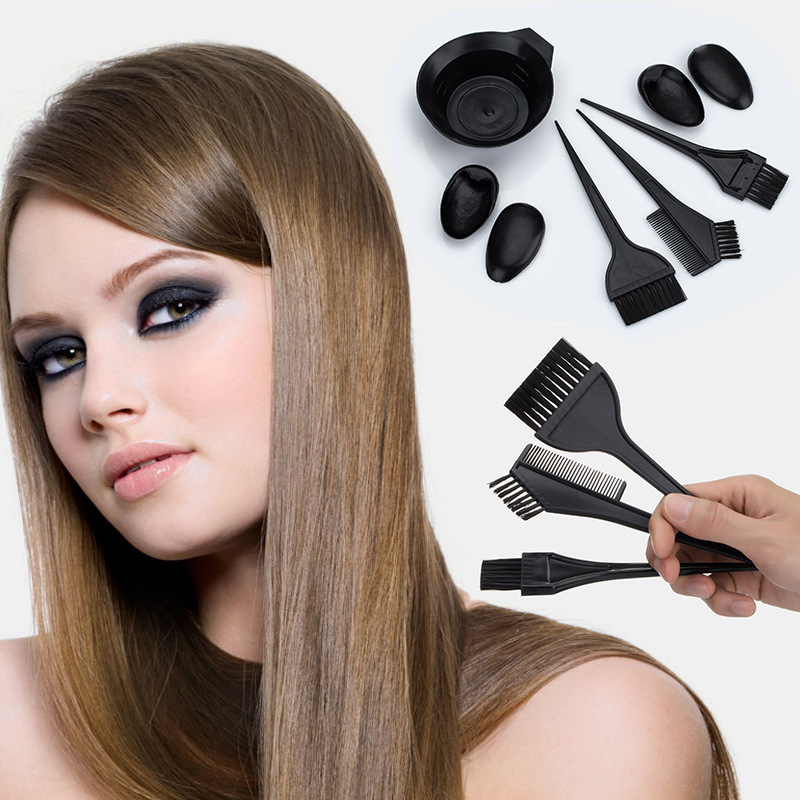 8Pcs/Set Hairdressing Salon Hair Dye Tint Tool Kit Color Brushes Bowl Combo Hair Color DIY Tools