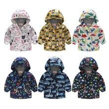 Fashion Children Outerwear Warm Waterproof Child Coat Casual Kids Windbreaker Girls Boys Jackets Printed Baby Outfits 80-130cm
