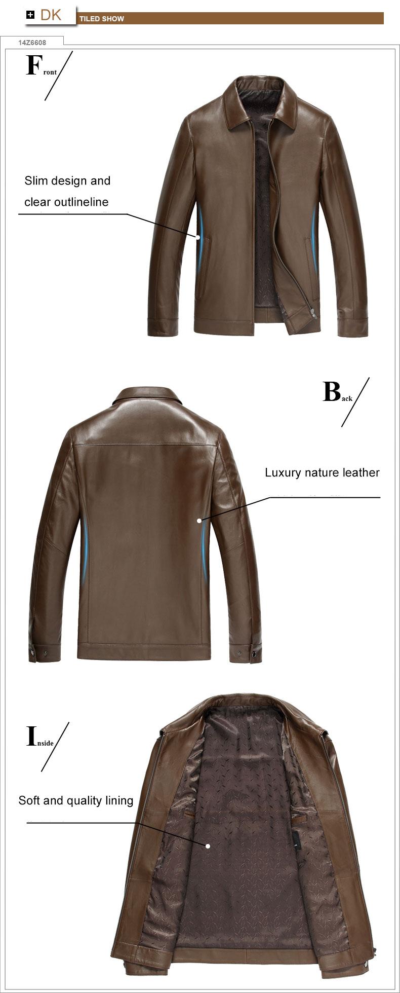 Business Style/Sheepskin 14Z6608 Leather 3