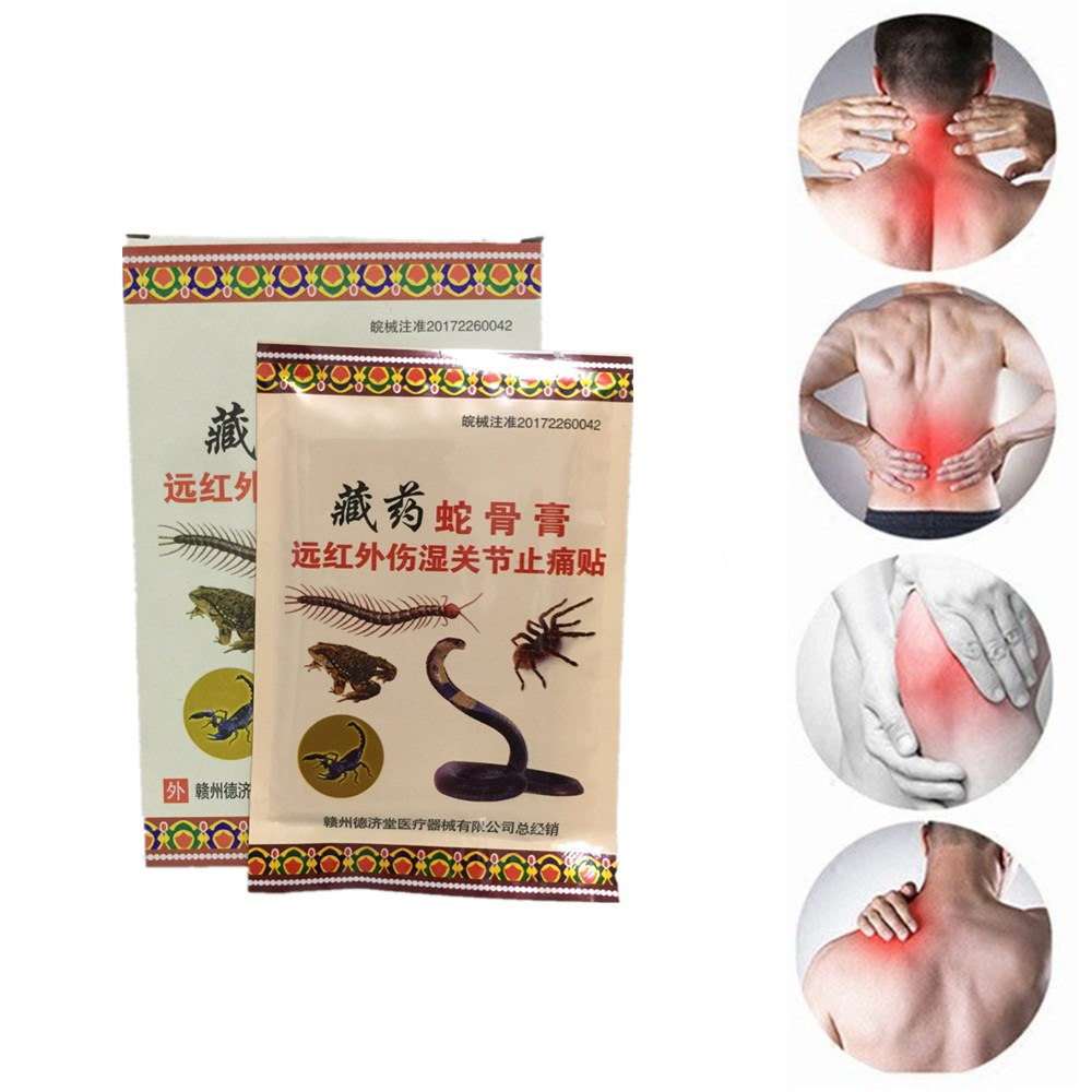 Wholesale MIYUELENI Relaxation Arthritis Essential oil Cobra blood Plaster Far-infrared Medicine Self heating Patches image