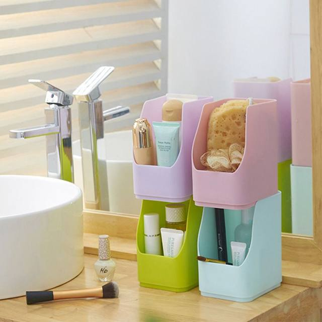 Plastic Food Pots Bathroom Cosmetics Grain Storage Cans Thick Stack Organizer Kitchen Accessories Container Colorfu