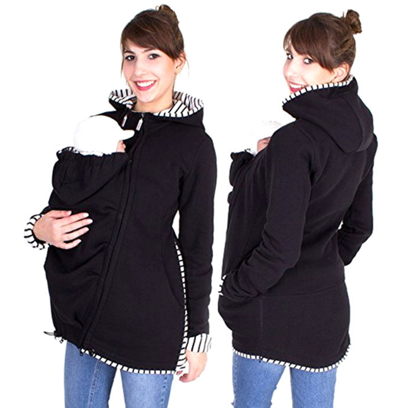 Baby Wearing Fleece Jacket Winter Maternity Warm Outerwear ...