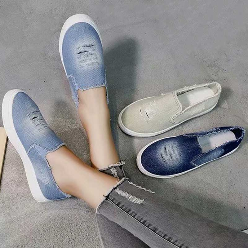 Woman 2019 Spring Sneakers Women Canvas Casual Shoes For Ladies Blue Breathable Lightweight Sneakers Female Sports Running Shoe