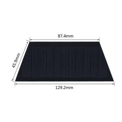 Black CamKpell 5W 5V Solar Panel Battery Charger DIY Solar Module with USB Port Portable Outdoor Solar Charging Board for Mobile Phones
