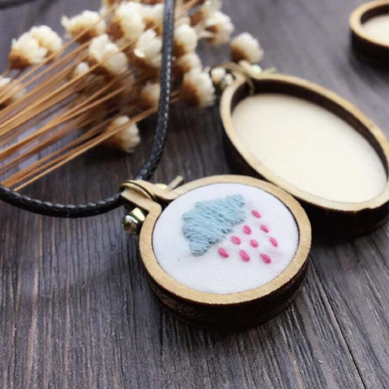 Mini Wood Hoops Wooden Cross Stitch Hoop for Frame Craft and Hanging FOCCTS 8 Sizes Mini Hoop Embroidery Kit