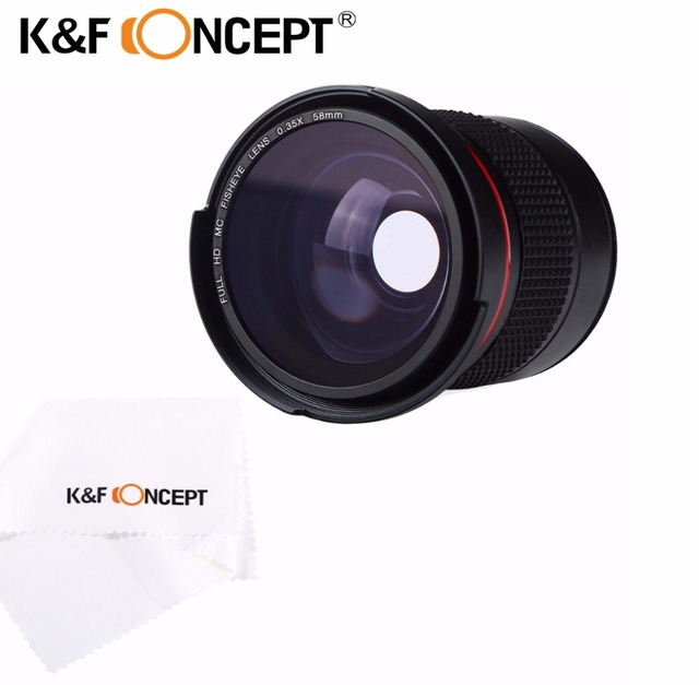 Kf Concept 58mm 035x Ultra Clear Blue Film Coated Fisheye Fish Eye