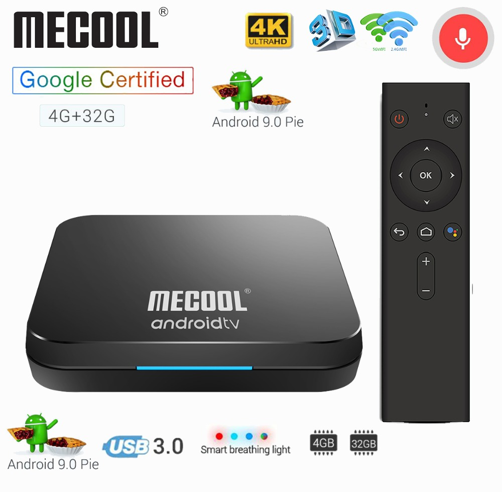 US $37 52 21% OFF|Mecool KM9 4G 32G TV Box Android 9 0 Amlogic S905X2  USB3 0 Smart 4K Set Top Box 2 4G/5G Dual WIFI Bluetooth 4 1 Android TV  Box-in