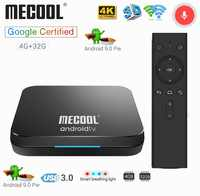 Mecool KM9 4G 32G TV Box Android 9.0 Amlogic S905X2 USB3.0 Smart 4K Set Top Box 2.4G/5G Dual WIFI Bluetooth 4.1 Android TV Box