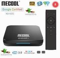 Mecool KM9 4G 32G TV Box Android 9.0 Amlogic S905X2 USB3.0 Smart 4K Set Top Box 2.4G/5G Dual WIFI Bluetooth 4.1 Android TV Box