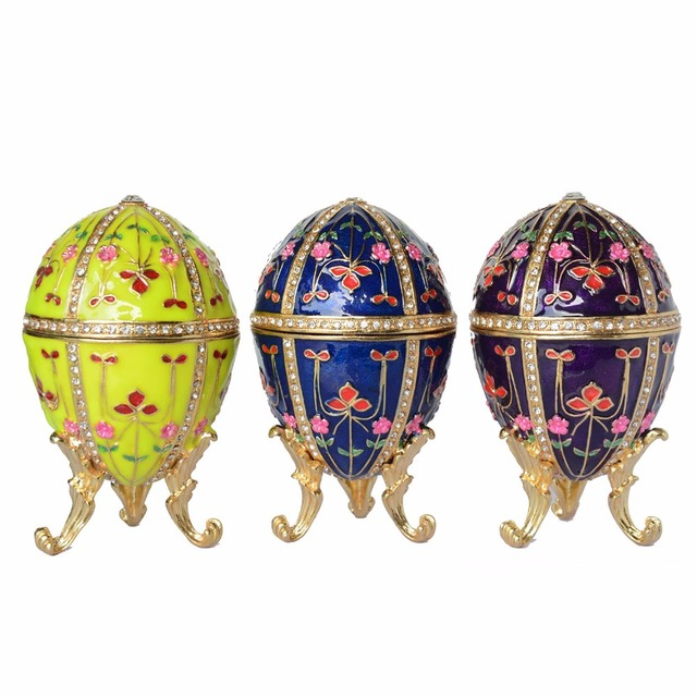 faberge style egg jewelry trinket treasured wedding ring gift boxes home  ornaments novelty collectible gifts 446769d2a478