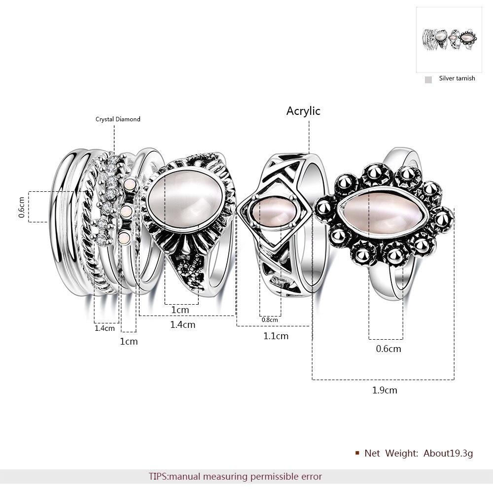 Romad популярный стиль Лидер продаж R ретро Овальный леди кольцо, европейские и американские личность продаж 8 частей кольцо из нержавеющей ст...