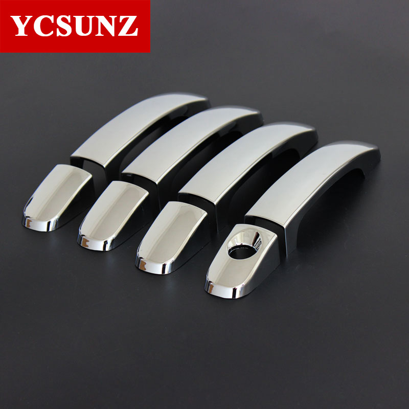 Car Accessories ABS Chrome Door Handle Covers Trim For FORD RANGER T6 T7 2012-2019