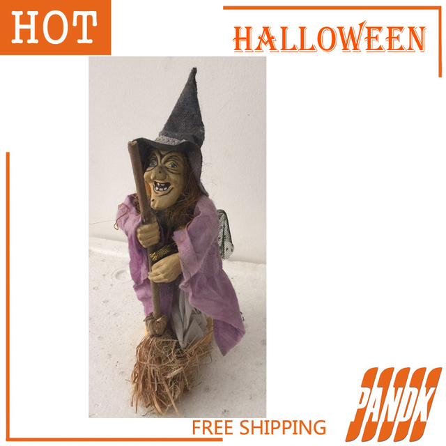 halloween witch halloween decorations ghost witch props party spoof scary witch tricky bar free shipping