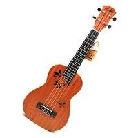 21 inch Ukulele Rosewood Fretboard 4 strings Hawaiian small Guitar Ukulele Electric Ukulele with Pickup EQ Butterfly love flower