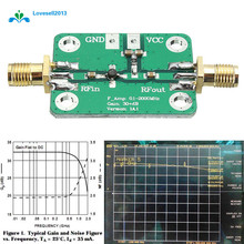 0.1 2000 MHz RF Wideband เครื่องขยายเสียงตัวรับสัญญาณบรอดแบนด์ 30dB เสียงรบกวนต่ำ LNA