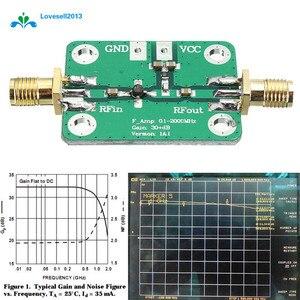 Image 1 - Módulo de banda larga amplificador rf wideband, 0.1 2000mhz receptor de 30db lna de baixo ruído