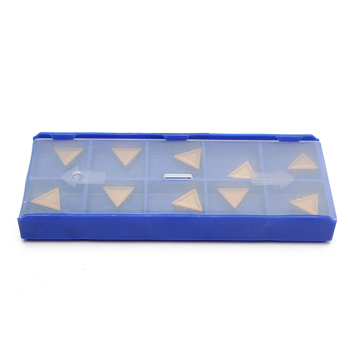 10Pcs TPMR 110304 Triangular Tungsten Gold Carbide Tips Inserts Tool With Box