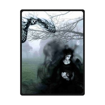 Fleece Throws Dark Gothic Blankets Size 60x80inch 50X80inch 50X60inch 40X50inch