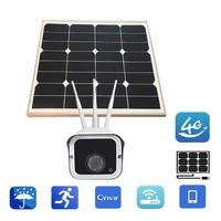 YSA Solar Power 3G 4G gsm 3 Antennas CCTV Camera LTE Wireless IP Camera Outdoor 1080P Video Surveillance Built in 16GB SD Card