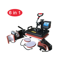 6 in 1 Combo Heat Press Machine Sublimation Printer Heat Transfer Mug/Cap/T shirt/Phone case/Plate/Bag/Puzzle/cloth Printing