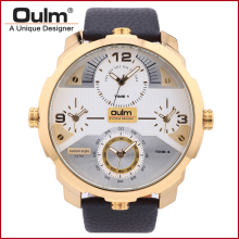 Oulm 3749 Square Dial Famous Brand Luxury Clock Men Military Wristwatch Quartz Watch with Leather Band Watches Waterproof