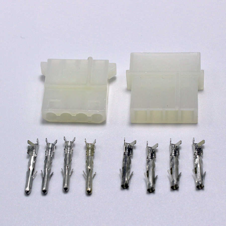 100sets ATX / EPS Molex 5.08mm 4p Pin Male Plug  female jack Power Connector Housing + Terminals for PC