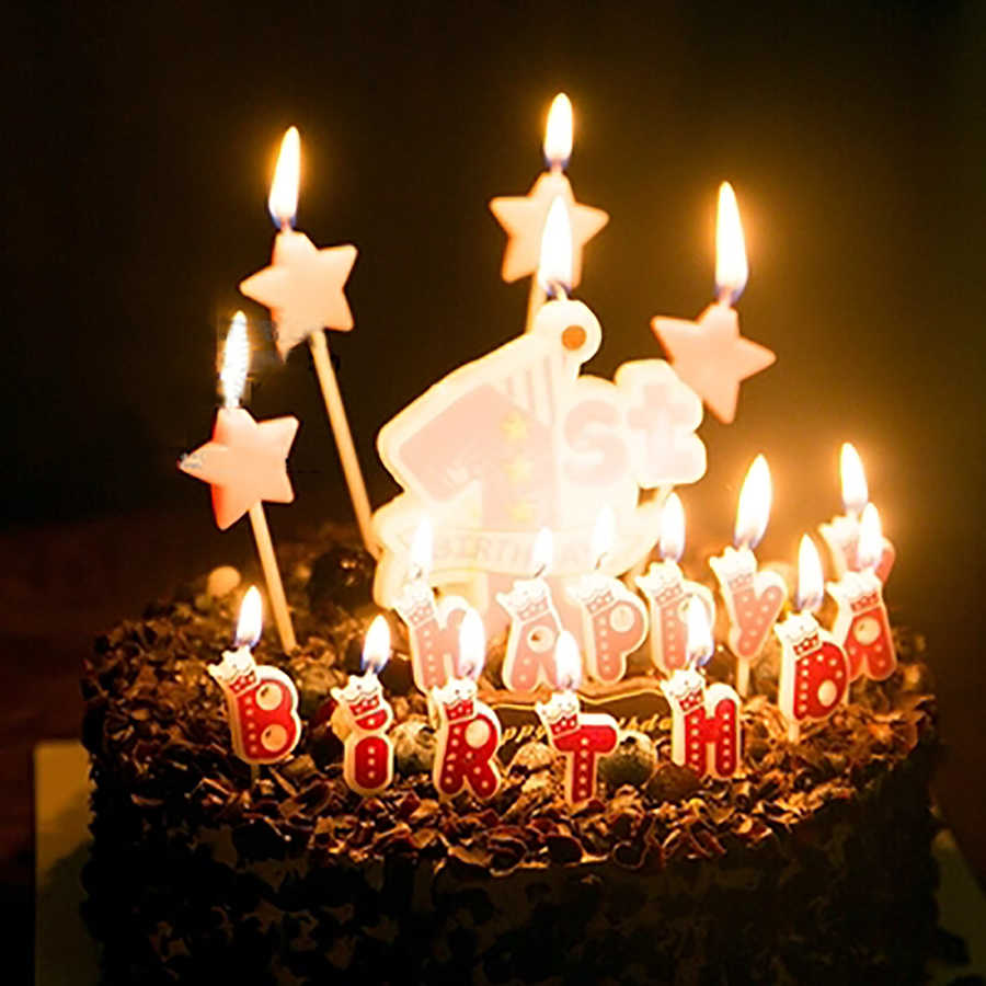 Prime Happy Birthday Candles Number Cake Kids Boys Baby Boy Girls Kit Birthday Cards Printable Opercafe Filternl