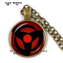2019/Naruto Sharingan Shippuuden Eye Pendant Necklace Black Chain Vintage Necklace Men's Necklace Children's Gifts.(China)