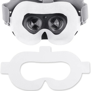 Image 4 - Amvr Vr الوجه غطاء مراتب مضاد للماء عالي الجودة غير المنسوجة النسيج المتاح النظافة قناع بالعصي السحرية ل Oculus الذهاب (50 قطعة)
