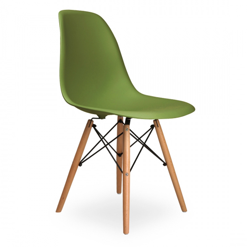 6 pieces for a lot  PP Plastic Casual Dining Chairs  Green