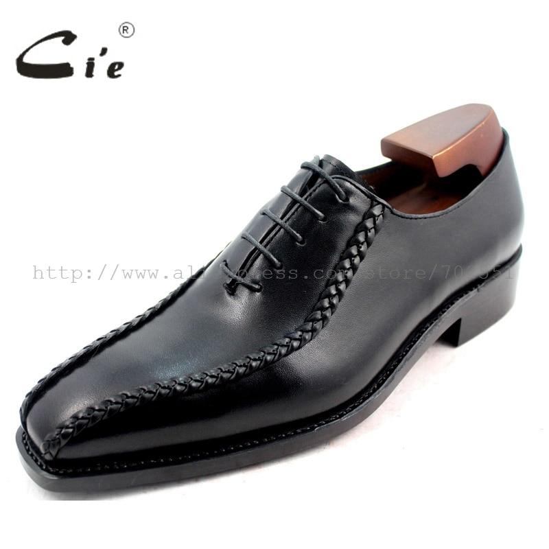 Oxfords Cuero Square Vestido Welted Cie Zapatos Toe Suela Goodyear Negocios No Transpirable Negro Genuino Sólido Ox223 Formal De IP1FqwC