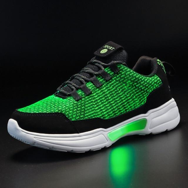 New LED Shoes Fiber Optic Shoes for girls boys men women USB Charging light up shoe for Adult Glowing Running Sneaker 1